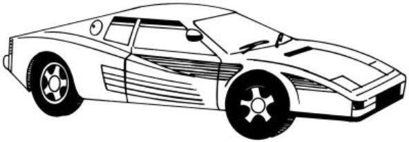 cum să desenezi o mașină cu un creion