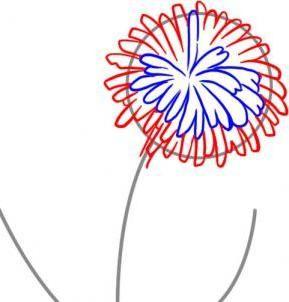 faceți capul unei flori pufoase