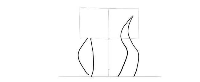 Cum să desenezi un cerb în creion în etape