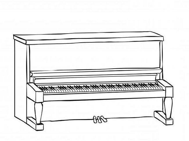 cum să desenezi un pian în creion pas cu pas