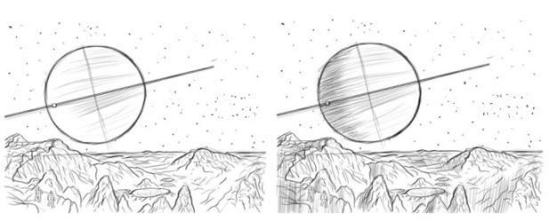 cum să desenezi o planetă