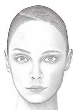 trage un portret al unei fete