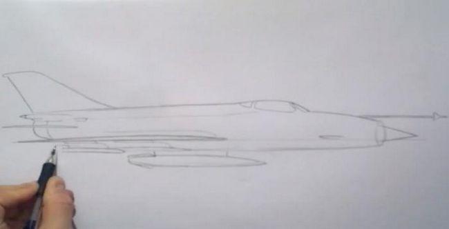 cum să deseneze o aeronavă militară