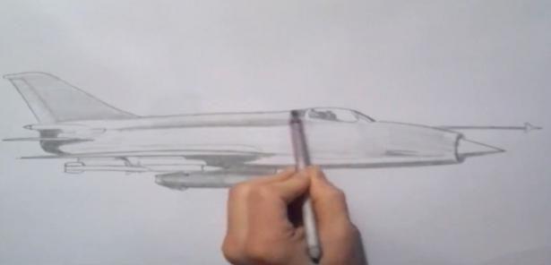 cum să deseneze un avion
