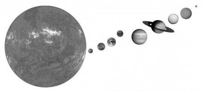 Desenați un sistem solar în etape