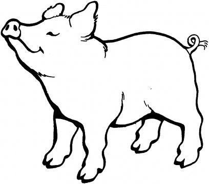 cum să desenezi un porc sub un stejar