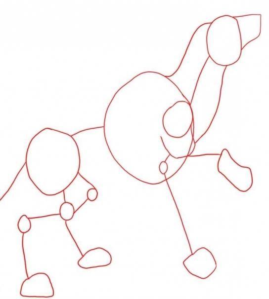 Cum de a desena un lup cu un creion - desen pas cu pas