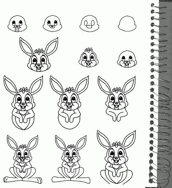 cum să desenezi un iepure în etape