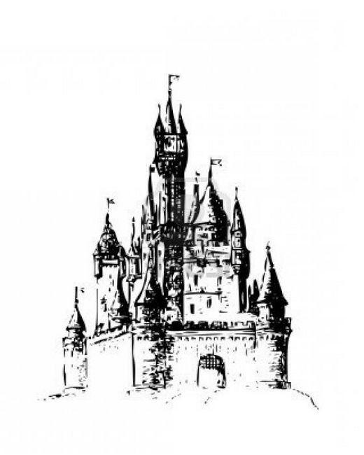 cum să deseneze un castel