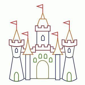 cum să desenezi un castel în etape