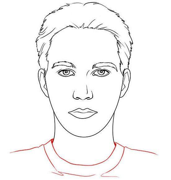 Cum să desenezi fața unei persoane în față?