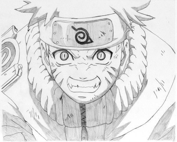 Cum de a desena Naruto cu un simplu creion