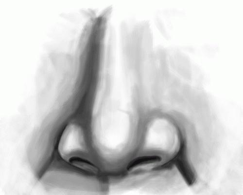 cum să atragă un nas cu un creion