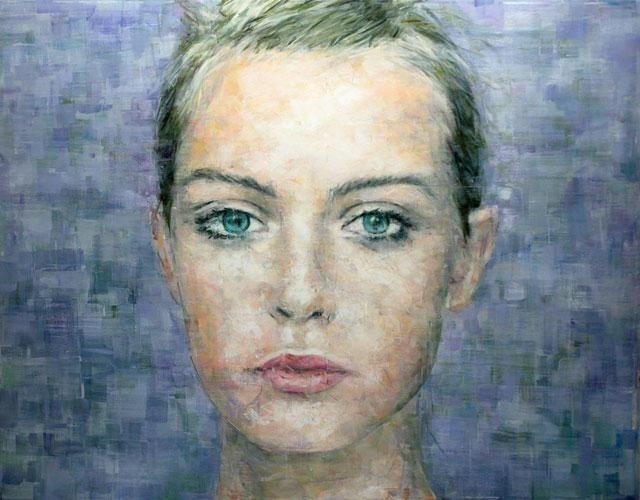 portret în ulei pe panza