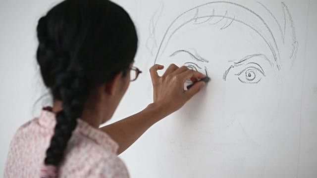 cum să desenezi un portret în ulei pe pânză