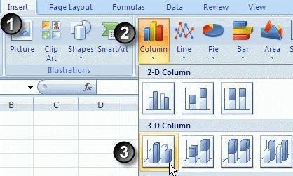 Creați o diagramă în Excel 2010