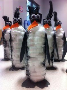 meșteșuguri din pinguini de sticle de plastic