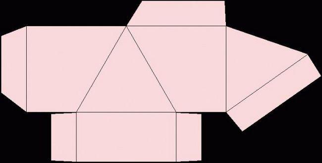 face o piramidă de hârtie