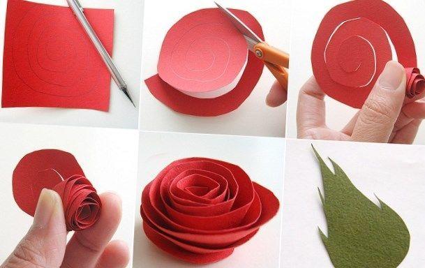 Cum se face un trandafir din hârtie - o descriere pas cu pas, diagrame și idei