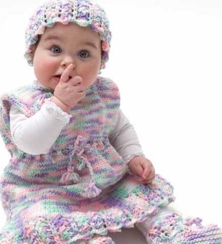 rochie de copil cu ace de tricotat