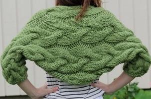 Cum de a lega un sacou-bolero cu ace de tricotat