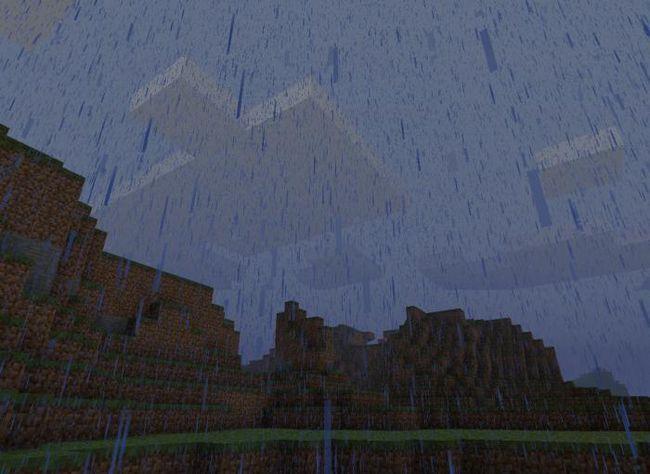cum sa curatati ploaia in minecraft