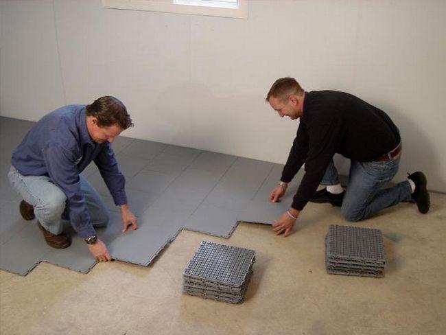 Izolați podeaua cu spumă de polistiren