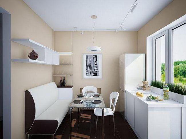 colț canapea în bucătărie