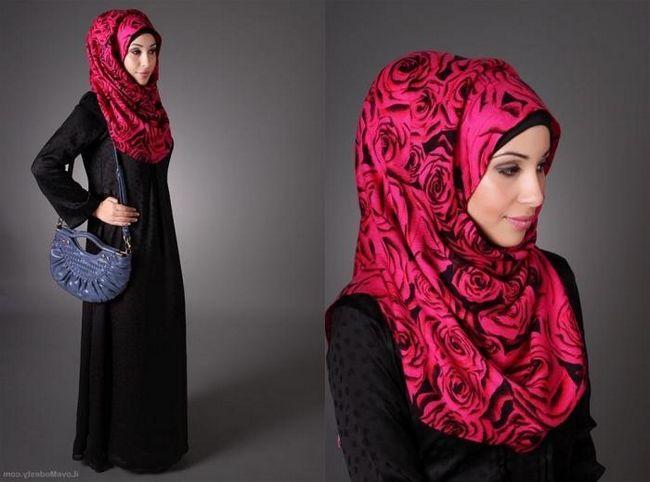 Cum să legați un hijab - o eșarfă tradițională a femeilor islamice