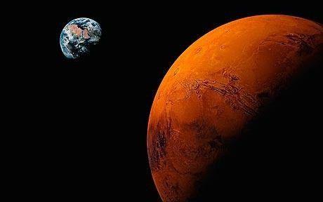 mărimea lui Marte și a pământului