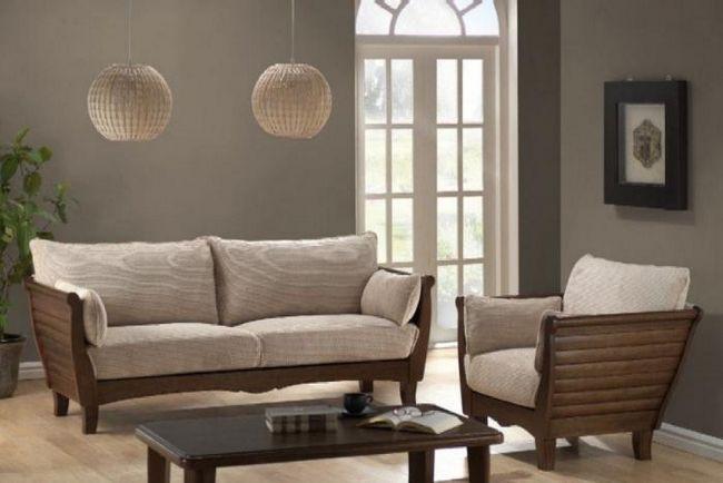canapele cu cotiere din lemn