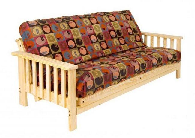 canapea de carte cu cotiere din lemn