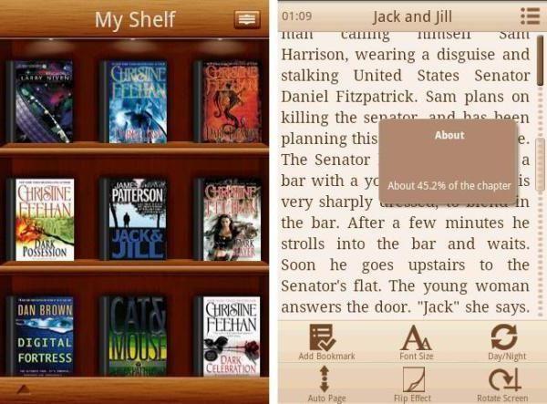 care format de cărți acceptă Android