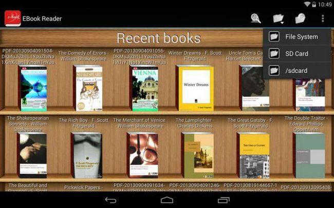 ce format de cărți suportă tableta Android