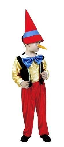 Costumul lui Pinocchio cu mâinile lor