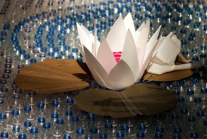 crini de apă din sticle de plastic