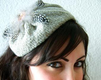 Beret tricotat
