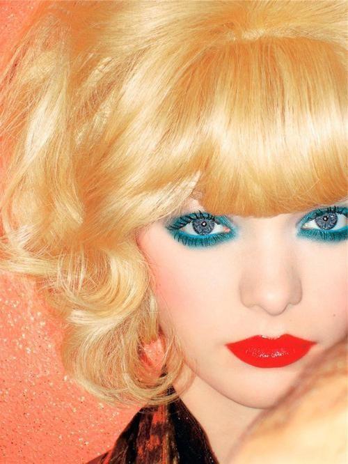 machiaj luminos pentru ochii albaștri