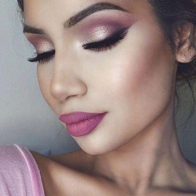 Make-up cu umbre roz în etape fotografie