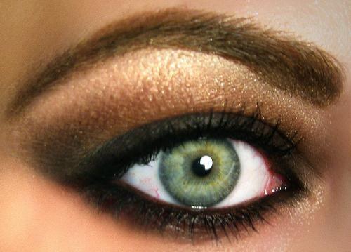 machiaj de seară pentru ochi verzi