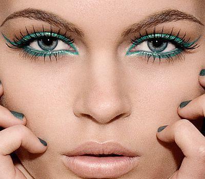 pas cu pas pentru machiajul ochilor verzi
