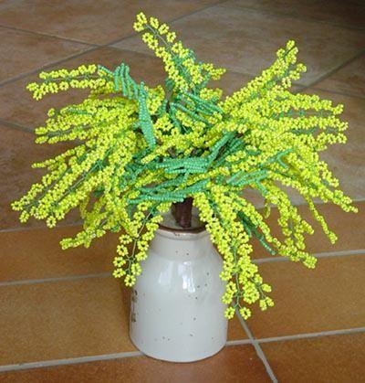 mimoza de margele