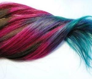 păr colorant pe părul întunecat