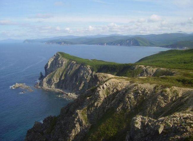 lista mărilor spălând țărmurile Rusiei
