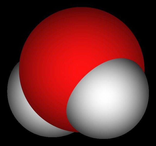 pe care atomii molecula de apă din fizică este împărțită