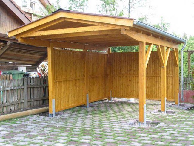 carport din lemn