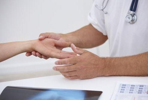 durere și degete amorțite