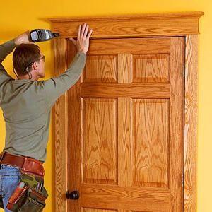 как сделать обналичку двери