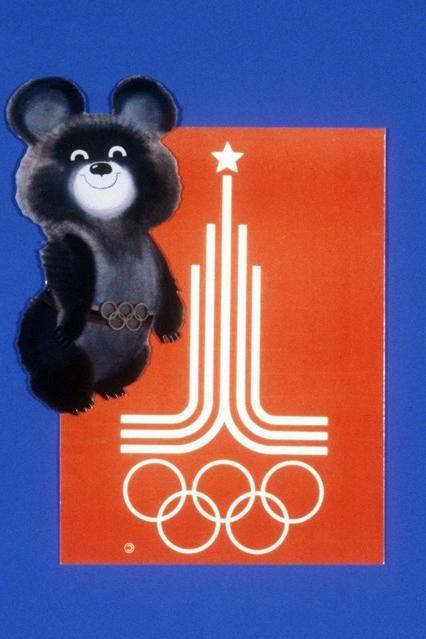 Olimpice de urs ca simbol și amulet al Jocurilor Olimpice de vară din 1980