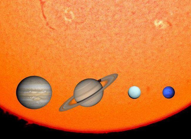 dimensiunea soarelui și a lui Jupiter